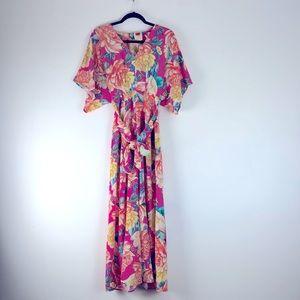 Anthropologie FARM Rio floral print jumpsuit  SM